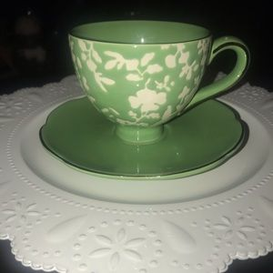 Threshold tea cup and saucer